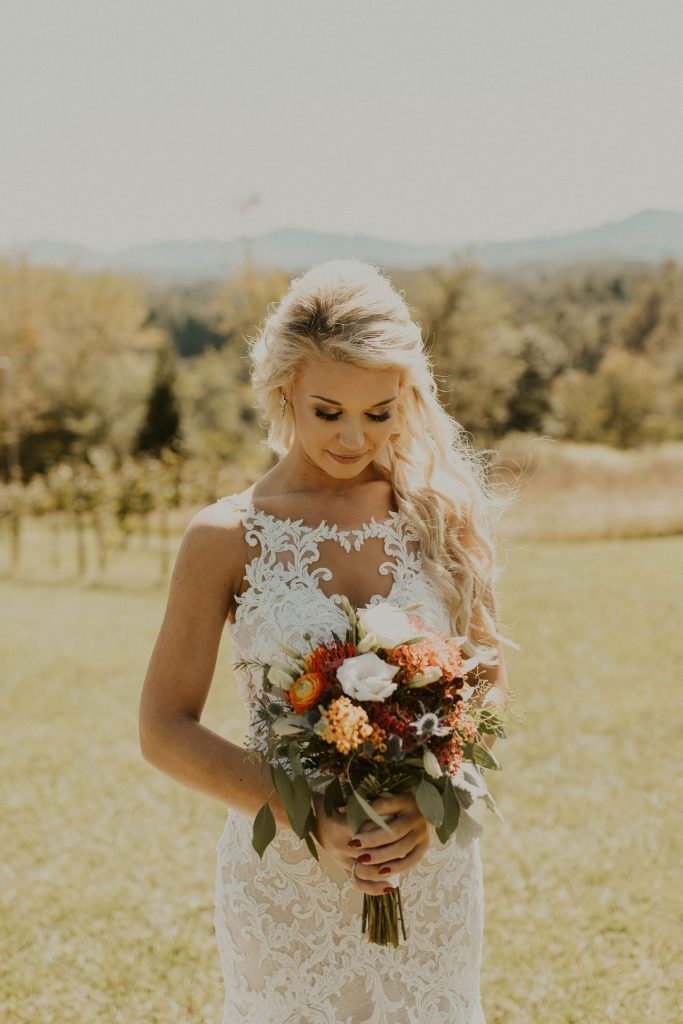 Bride Vineyard Wedding
