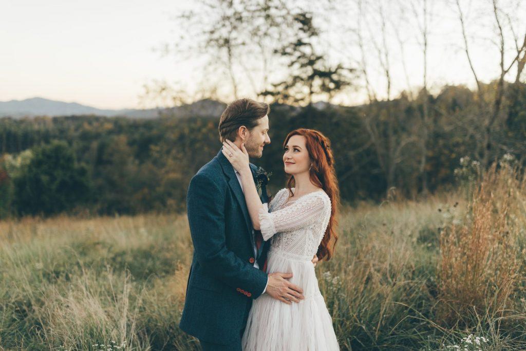 Fall Wedding Couple