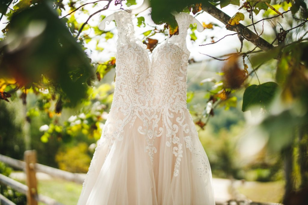 Fall Wedding Dress Hanging