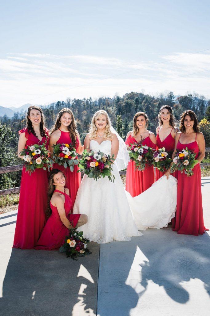 Mountain Wedding Bridal Party
