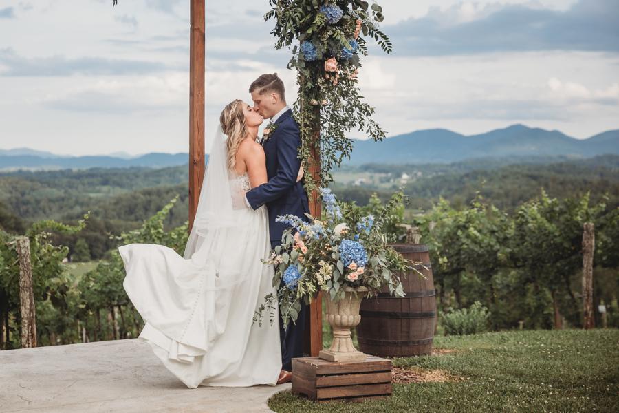 Wedding Ceremony Mountain Vineyard