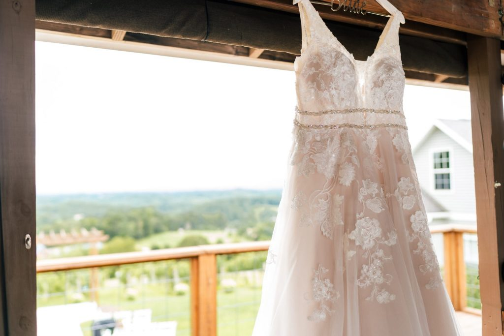 Vineyard Gown Hanging
